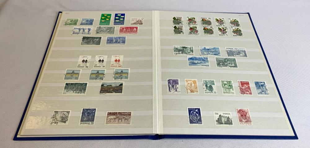 Sweden 1972-78 Stamp Collection
