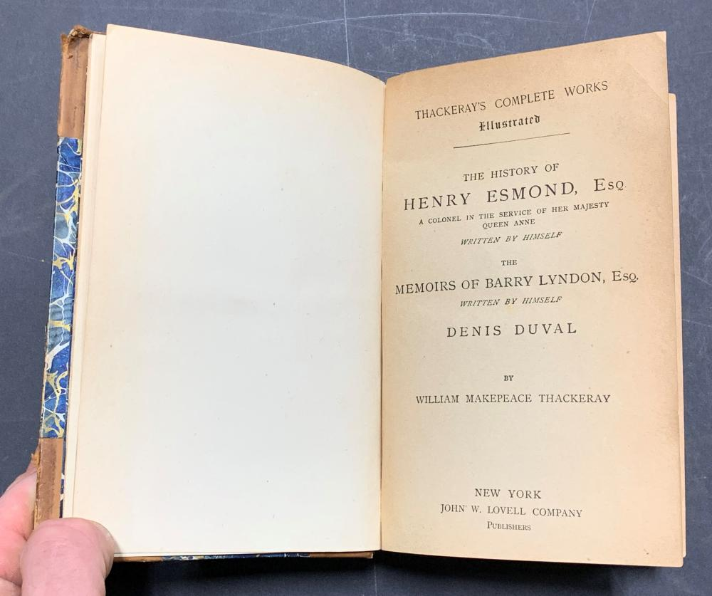 Collection of Rare William Thackeray's Works Books