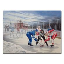 """James Lumbers' """"The Hockey Scouts"""" Limited Edition Canvas"""