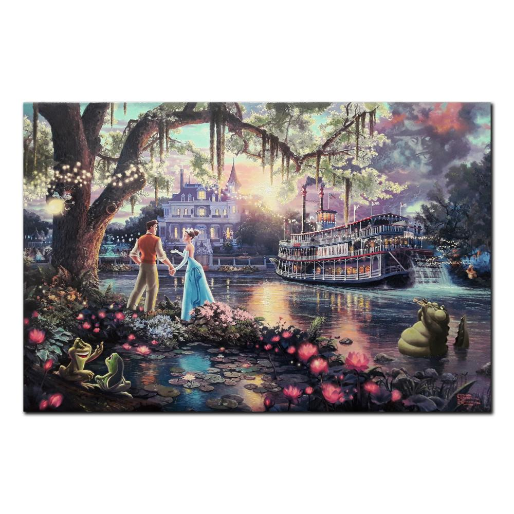 "Thomas Kinkade's ""The Princess And The Frog"" Limited Edition Canvas"