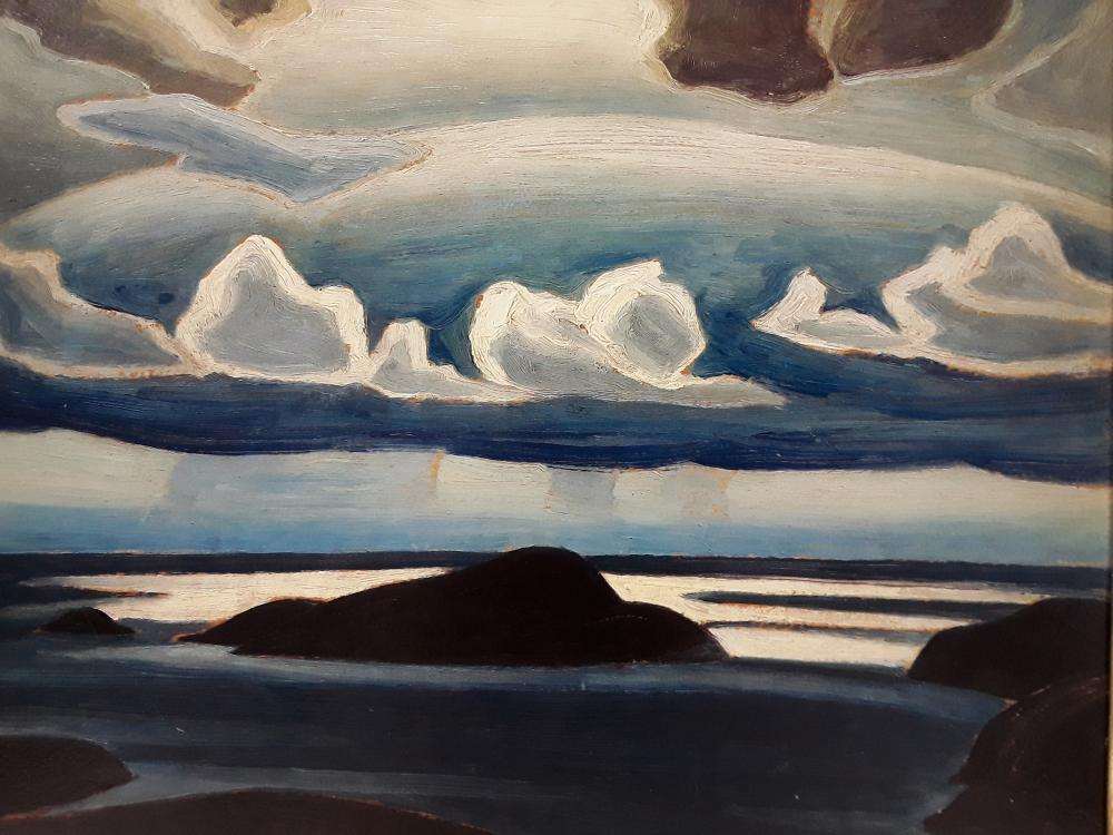 """Lawren Harris's """"North Shore Lake Superior"""" Limited Edition Framed Oil on Panel Recreation"""