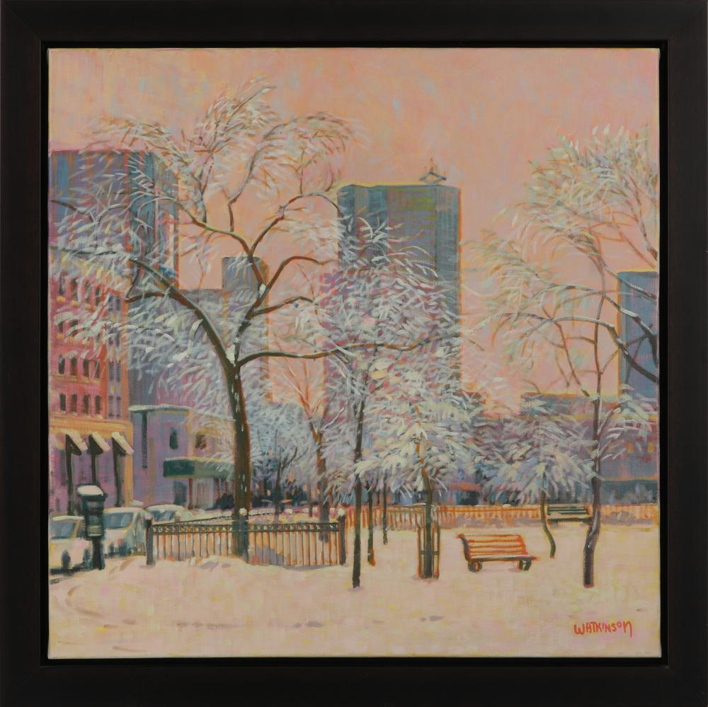 "Terry Watkinson's ""Winnipeg Parkette"" Framed Original Painting"