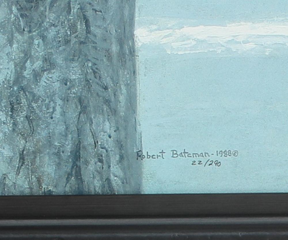 "Robert Bateman's ""Midnight Black Wolf"" Limited Edition Rigiclee"
