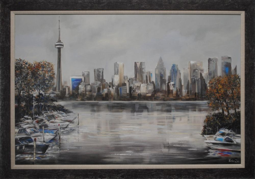 """Victor Zag's """"Toronto From The Water"""" Original"""