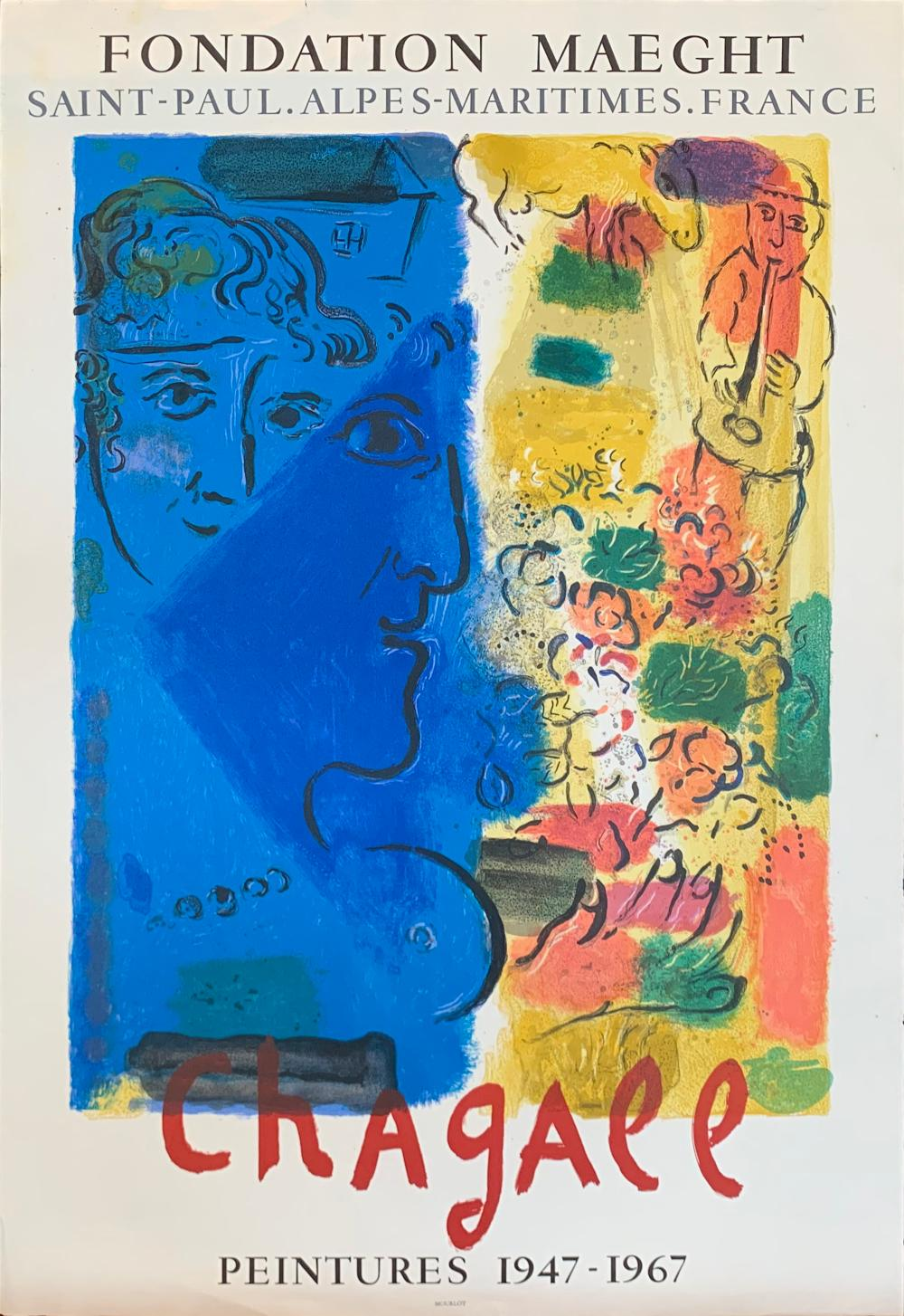 Chagall Original Exhibition Poster - France 1967