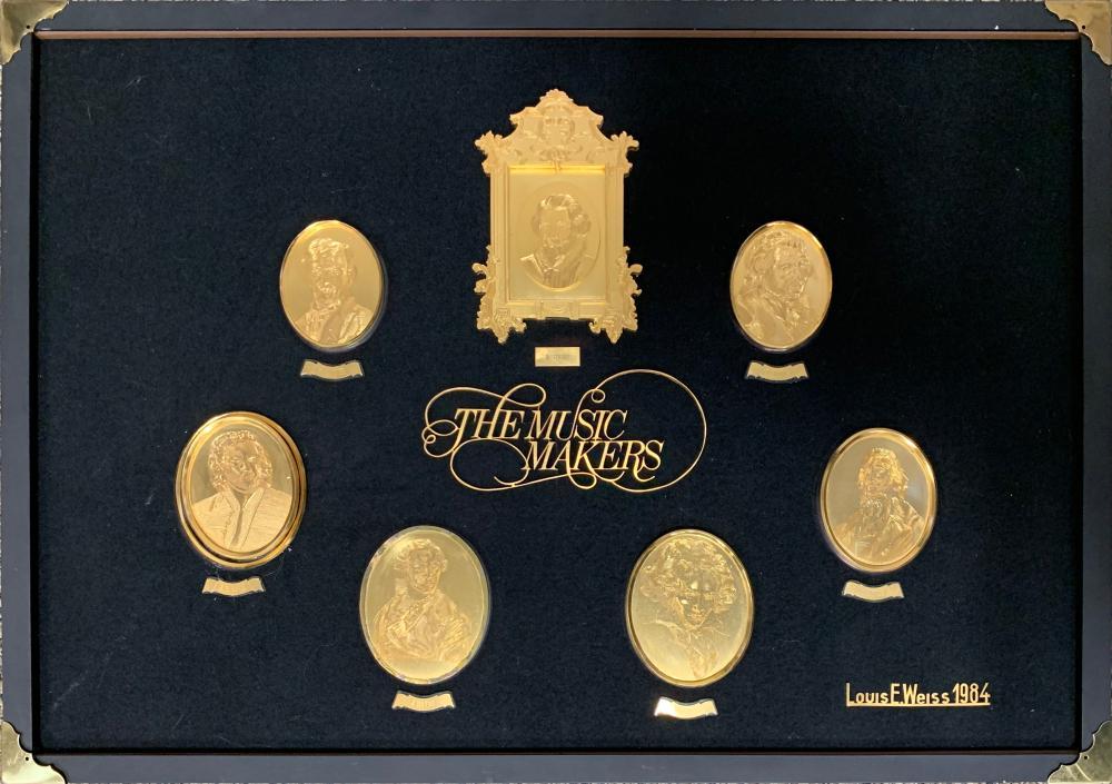 """Louis E. Weiss's """"The Music Makers"""" Bronze Art"""