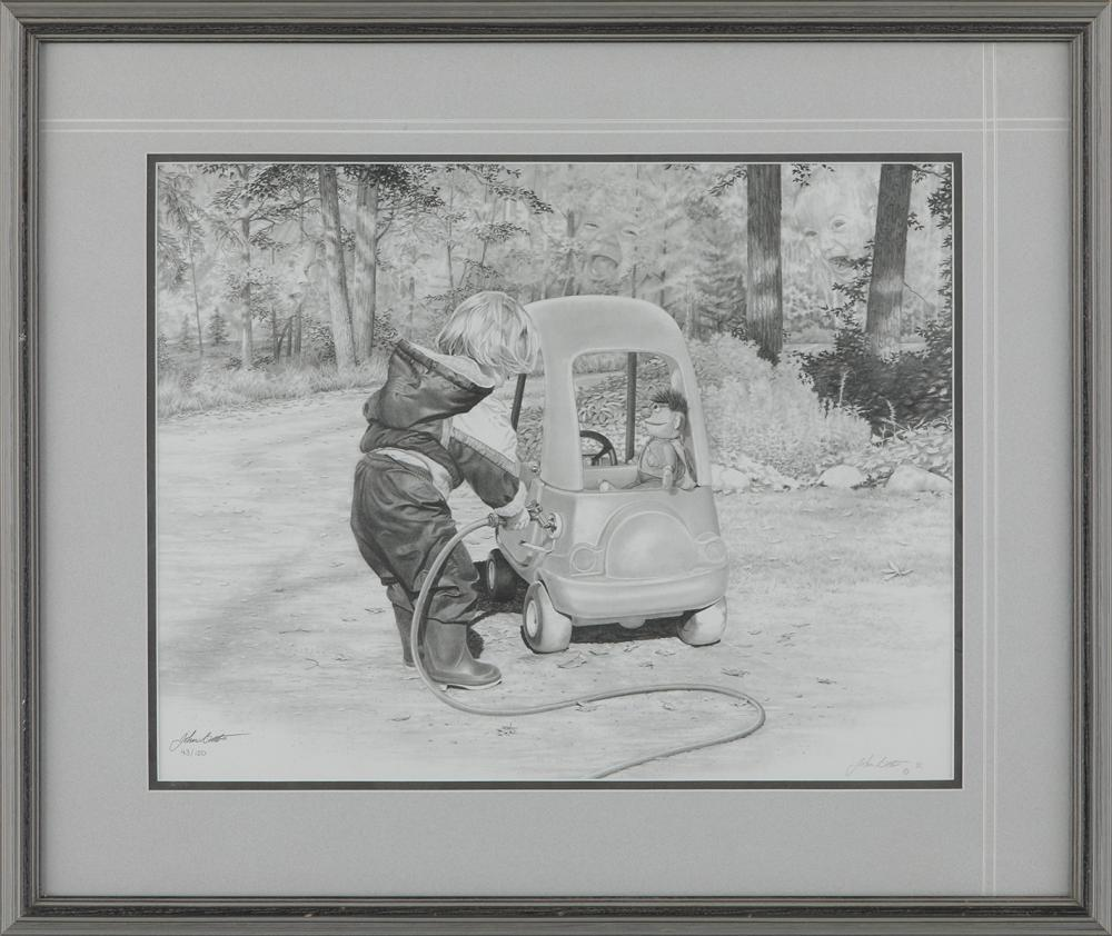 """John Boots' """"First Car"""" Limited Edition Framed Print"""