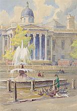 Mary Georgina Barton (1861-1949) Trafalgor Square