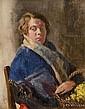 Leo Whelan RHA (1892-1956) The Flower Seller (Portrait of the Artist's Sister)