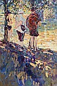 Arthur K. Maderson (b.1942) The Bridge at St Jean Du Gard, France