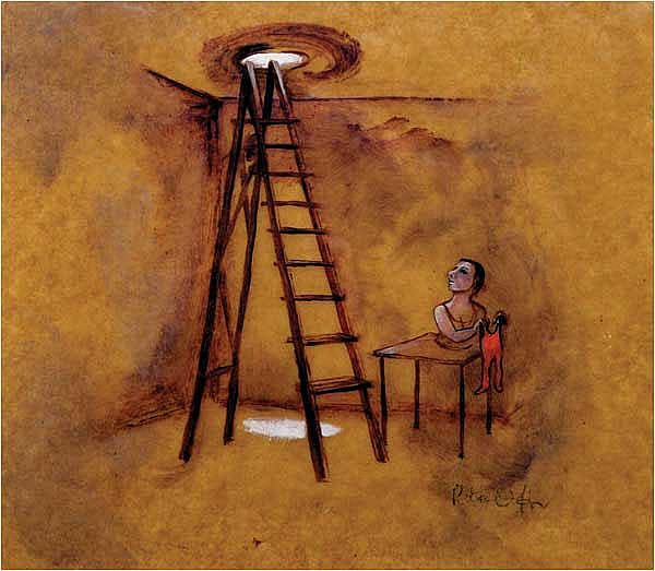 Rita Duffy RUA (20th/21st Century) Ladder (1998)