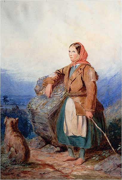 Anthony Carey Stannus (c.1830-1919) Young Peasant