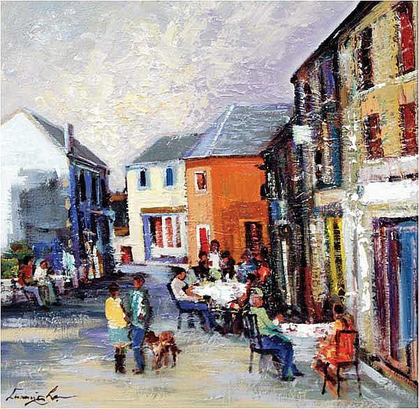 William Cunningham (b.1946) Coffee in Kinsale oil