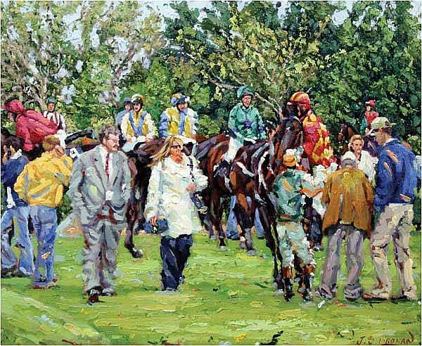 James S. Brohan (20th/21st Century) The Paddock -
