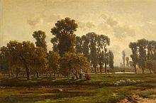 Gerrit Alexander G. Mollinger (1836-1867) Dutch Apple Harvesting