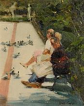 James English ARHA (b.1946) Plaza Concordia, Seville
