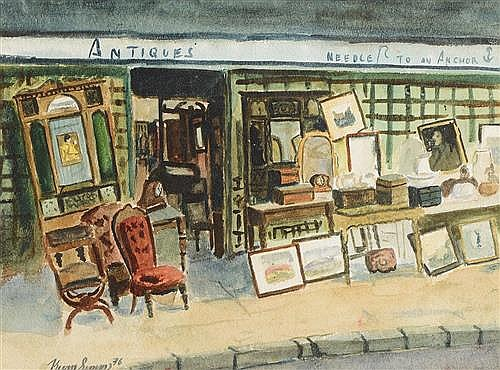 Kevin Simms (b.1932) Pavement Antiques