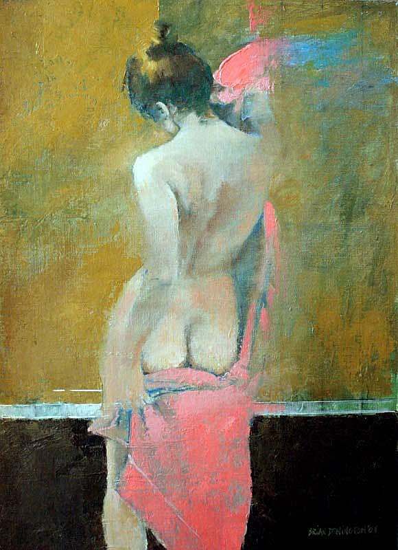 Brian Denington (b.1944) Nude Study oil on board