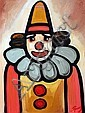 J.P. Rooney (b.1947) Clown oil on board signed, J. P. Rooney, Click for value