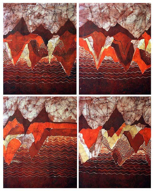 Bernadette Madden (b.1948) Abstracts set of 4