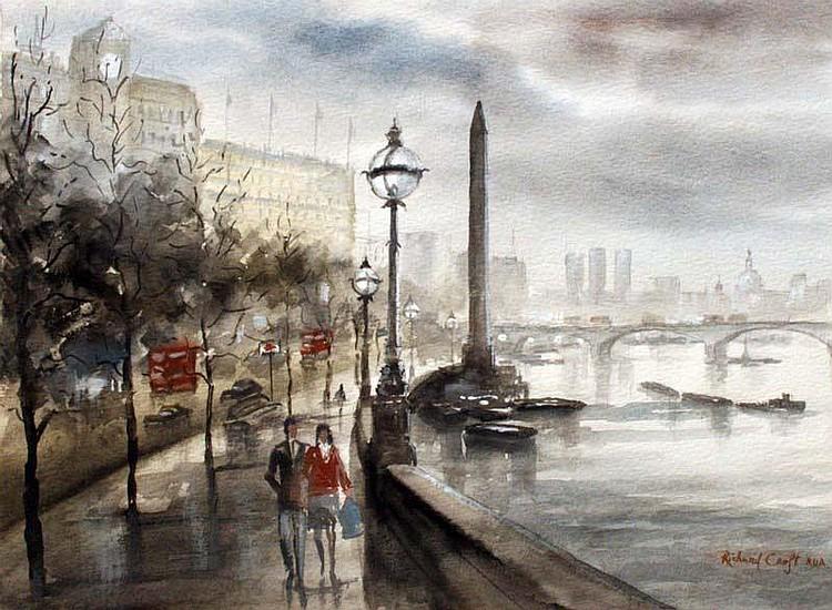 Richard J. Croft RUA (b.1935) Thames Embankment