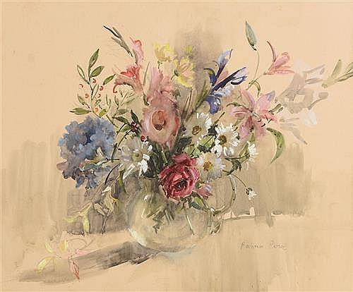 Barbara Crowe (b.1942) RI SWA SBA Flowerpiece I