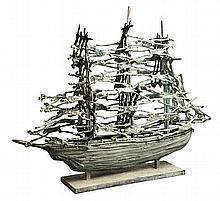 John Behan RHA (b.1938) Famine Ship (2014)