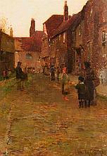 Walter Frederick Osborne RHA (1859-1903) The Hurdy-Gurdy Player (c.1887)