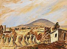 Tony O''Malley HRHA (1913-2003) Mt. Leinster, Harvest (1951)