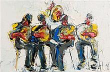 John Brian Vallely (b.1941) The Five Musicians