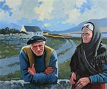 John Skelton Snr (1923-2009) Twlight in Connemara