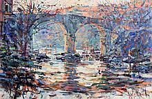 Arthur K. Maderson (b.1942) The Old Bridge, St Laurent le Minier, France