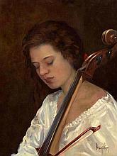 Ken Hamilton (b.1956) The Cello Player