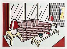 Roy Lichtenstein (1923-1997) Red Lamps (1990) - Interior Series