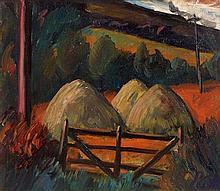 Peter Collis RHA (1929-2012) Hay Stacks, Co. Wicklow