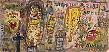 Alan Davie (1920-2014) Scottish Totem Top (2012)