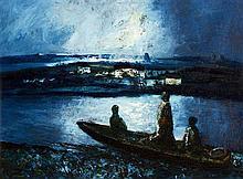 Daniel O''Neill (1920-1974) Three Boatmen