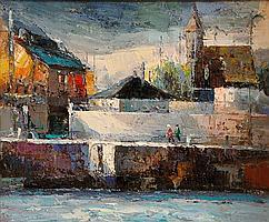 Stuart Williams (20th/21st Century) Dublin Street Scene oil on board