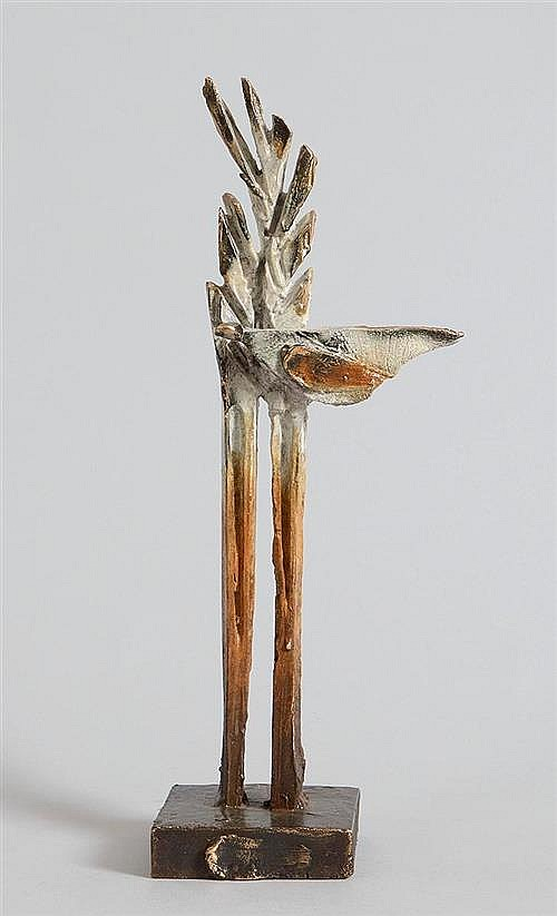 Leo Higgins (b.1951) Bird in Tree Maquette