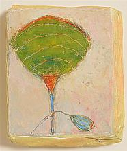 Fionnuala D'Arcy (20th/21st Century) Paper Flower with Blue Leaf, 2010