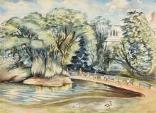 Patrick Heney ANCA (20th Century) The Pond St. Stephen's Green