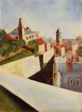 Filip Wahlstrom (1895-1972) Swedish Rooftops