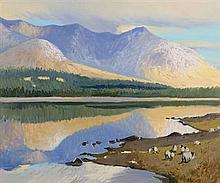 Cecil Maguire RHA RUA (b.1930) Inagh Valley, Early Morning, Connemara