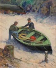 James English ARHA (b.1946) Making Ready