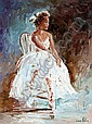 Lorna Miller (20th/21st Century) Ballerina oil on, Lorna Miller, Click for value