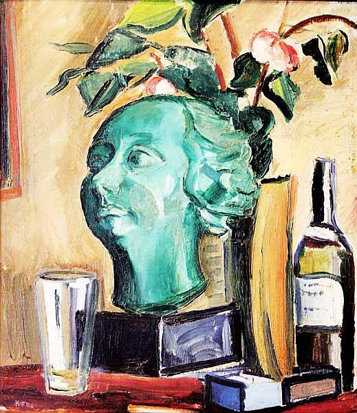Kathleen Fox (1880-1963) Still Life with Bust