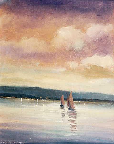 Norman J. McCaig (1929-2001) Turf Boat, Connemara