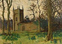 James English ARHA (b.1946) Churchyard, Spring (1983)