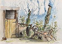 James English ARHA (b.1946) The Rusty Barrow (1976)