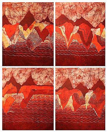Bernadette Madden (b.1948) 'Abstracts' set of 4